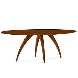 Ella Ellipse Maple Dining Table