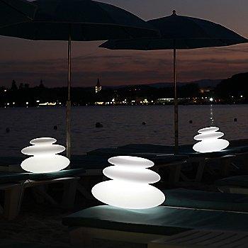 Translucent White / illuminated / in use