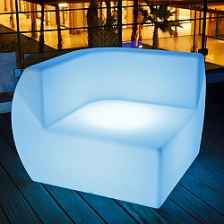 Side Lighted Lounge Chair