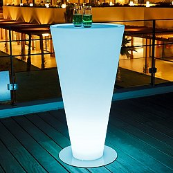 Up Lighted Bluetooth Bar-Height Table