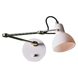 Laito Swing Arm Wall Sconce (Opal/Brass) - OPEN BOX RETURN