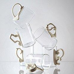 Era Glass and Porcelain Mug, Set of 6