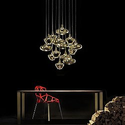 Nostalgia 14 Light Multipoint Pendant Light - Round Canopy