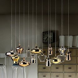 Nostalgia 14 Light Multipoint Pendant Light - Rectangular Canopy