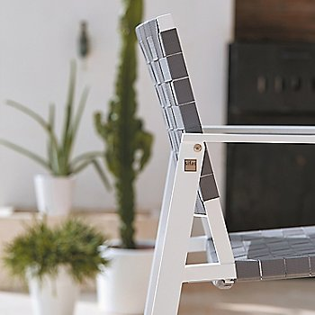 Grey Strap fabric with Matte White frame finish