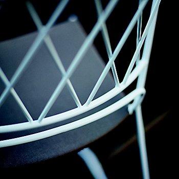 Shown in White with Sunbrella Beige Seat color