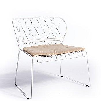 Shown in White,  Natural Cushion