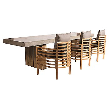 Slate Grey with Spirals Teak Lounge Chair
