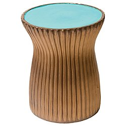 Ridged Ceramic Stool