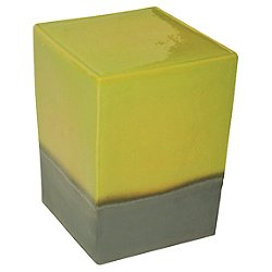 Two Glaze Square Cube Set of Two