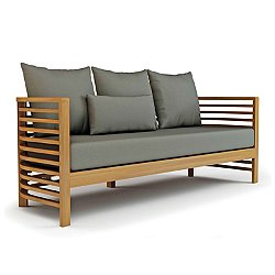 Spirals Teak 3 Seater Sofa