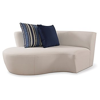 Champagne Sectional One Arm Loveseat