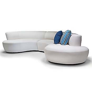 Pictured with the Champagne Sectional One Arm Loveseat and the Champagne Sectional Armless Loveseat, Bumper (sold separately)
