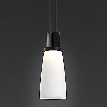 Shown in White Tapered Bell shade