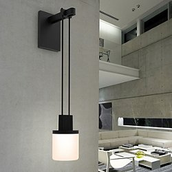 Suspenders™ Mini Single LED Wall Sconce (Drum) - OPEN BOX