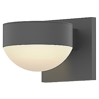 Shown in Frosted Polycarbonate Dome, Textured Gray finish