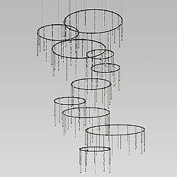 Suspenders Vertical Ring Matrix LED Lighting System - Crystal Ladder Light