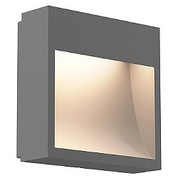 Square Curve Indoor/Outdoor LED Sconce