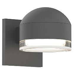 Reals Downlight Outdoor LED Wall Sconce (Clear/Plt/Gr)-OPEN BOX