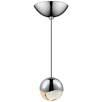 Shown in Polished Chrome w Clear Glass finish, Medium, Dome Shape