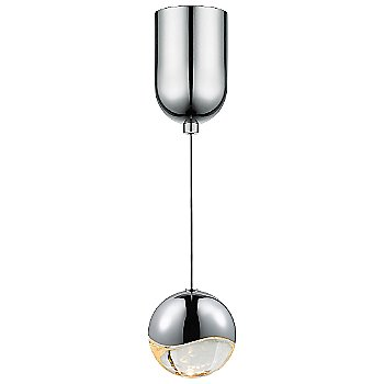 Shown in Polished Chrome w Clear Glass finish, Medium, Mini-Dome Shape