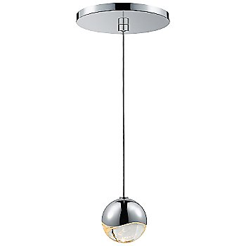 Shown in Polished Chrome w Clear Glass finish, Small, Round Shape