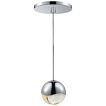 Shown in Polished Chrome w Clear Glass finish, Medium, Round Shape
