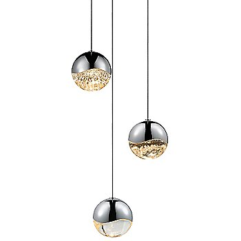 Shown in Polished Chrome w Clear Glass finish, Medium