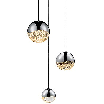 Shown in Polished Chrome w Clear Glass finish, Assorted