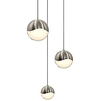 Shown in Satin Nickel w White Glass finish, Assorted