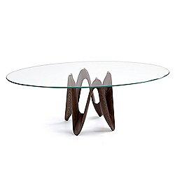 Lambda Elliptical Dining Table, 87-Inch Wide