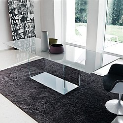 Valencia Extralight Glass Dining Table, 79-Inch