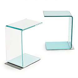 Swan Clear Side Table