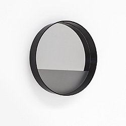 Horizon Mirror with Linear Frosting