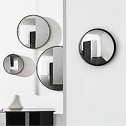 Sail Mirror - Round Convex Embossed Mocha Frame