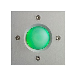 Square Doorbell Button (Green) - OPEN BOX RETURN