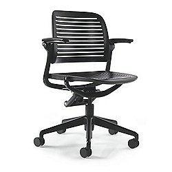 Cachet 5 Star Chair (Upholstered/Casters/Black) - OPEN BOX