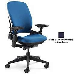 Leap Office Chair Black Buzz 2 Crocus Hard Casters Open