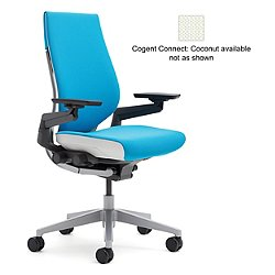 Gesture Office Chair (Wrapped Back/Black/Black) - OPEN BOX