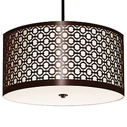 Brentwood Side Pattern Round Pendant Light
