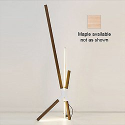 Middle Bang Floor or Table Lamp (White/Maple) - OPEN BOX