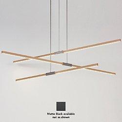Multi Pendant (4 Foot/Maple/Matte Black/Standard Brightness/120 Volt) - OPEN BOX RETURN