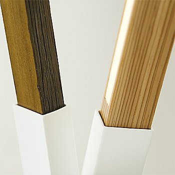White finish with Maple, Maple, Walnut and Yellow Pine Mix / Detail view
