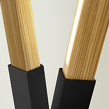 Matte Black finish with Heart Pine / Detail view
