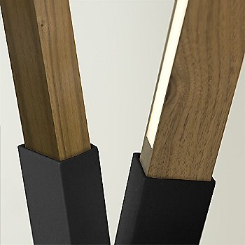 Matte Black finish with Water Tower Redwood (Reclaimed) / Detail view
