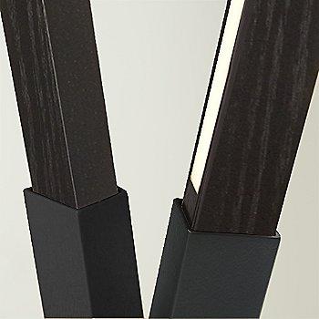 Matte Black finish with Ebonized Oak / Detail view
