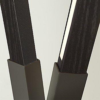 Slate Grey finish with Ebonized Oak