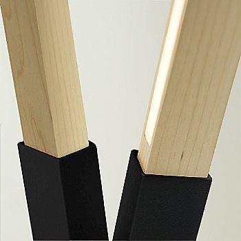 Blackened Steel finish with Maple