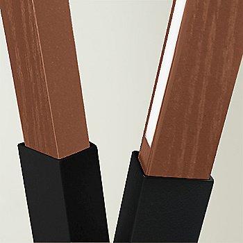 Blackened Steel finish with Walnut