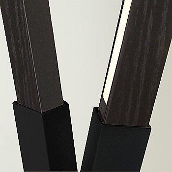 Blackened Steel finish with Ebonized Oak